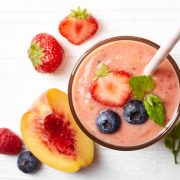 Berry Basil Peach Smoothie
