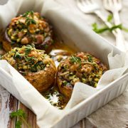 Savory Vegan Stuffed Mushrooms